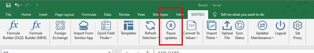 pause updates